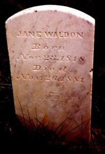 My great, great grandma, Jane (Banks) Wallen, 1818-1881.