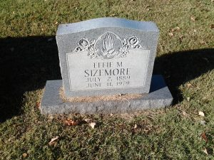 My great aunt, Effie (Roberts) Sizemore, 2 Jul 1889-11 Jun 1978, buried at Liberty Hill Cemetery in Church Hill, Tennessee