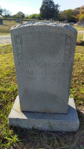 My great uncle, Ross Gregory, 17 Jul 1899-4 Apr 1977, buried in Rosemont Cemetery in Union, South Carolina.
